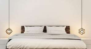 Bedroom interior for modern home and hotel bedroom Royalty Free Stock Image