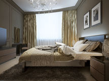 Bedroom interior in modern style Stock Photo