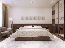 Bedroom interior in modern style Stock Photography