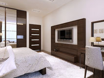 Bedroom interior in modern style Royalty Free Stock Photo