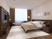 Bedroom interior in modern style Royalty Free Stock Image