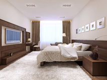 Bedroom interior in modern style Royalty Free Stock Photos