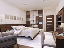 Bedroom interior in modern style vector illustration