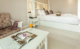 Bedroom Interior in New Luxury Home Stock Images