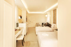 Bedroom Interior in New Luxury Home Royalty Free Stock Images