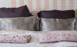 Bedroom interior pillow style Royalty Free Stock Photo