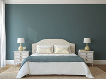 Bedroom interior. Provence. 3d render Royalty Free Stock Image