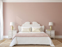 Bedroom interior. Provence. 3d render Stock Photos