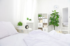 Bedroom interior room at home Stock Images