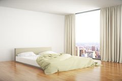 Bedroom interior sideview Royalty Free Stock Photography
