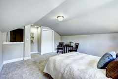 Bedroom interior with vaulted ceiling and sitting area Stock Photography
