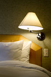 Bedroom and lamp Stock Image