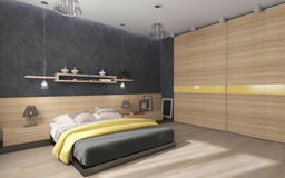 Bedroom with large closet Stock Photo
