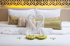 Bedroom, Large luxury rooms. Royalty Free Stock Photography
