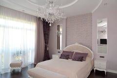Bedroom in light tones Stock Image