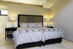 Bedroom lights bedding room Stock Image