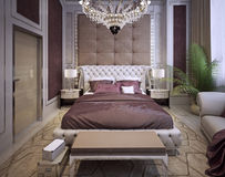 Bedroom in a luxurious classic style Stock Photo