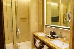 Bedroom of luxury suite in hotel in HongKong Stock Image