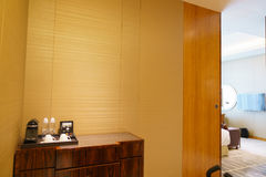 Bedroom of luxury suite in hotel Royalty Free Stock Image