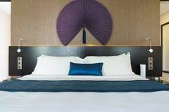 Bedroom of luxury suite in hotel in Vietnam. Royalty Free Stock Image