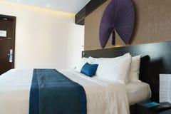 Bedroom of luxury suite in hotel in Vietnam. Royalty Free Stock Photo