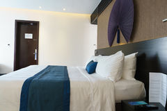 Bedroom of luxury suite in hotel in Vietnam. Stock Photos