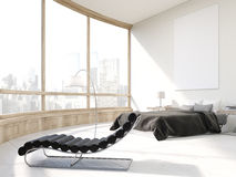 Bedroom with massage chair Royalty Free Stock Images