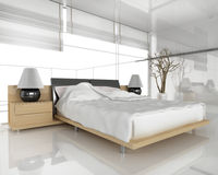 bedroom modern Στοκ εικόνα με δικαίωμα ελεύθερης χρήσης