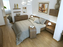 Bedroom modern interior Stock Photo