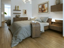 Bedroom modern interior Royalty Free Stock Photography