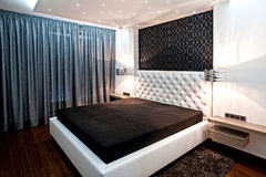 Bedroom in modern interior Stock Photography