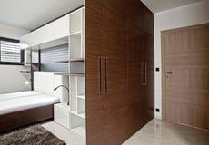 Bedroom in modern interior Royalty Free Stock Photo