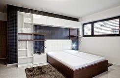 Bedroom in modern interior stock images