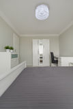 Bedroom in modern minimalist design Royalty Free Stock Images
