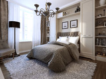 Bedroom in modern style Royalty Free Stock Photos