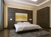 Bedroom modern style Stock Images