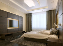 Bedroom modern style Stock Photography