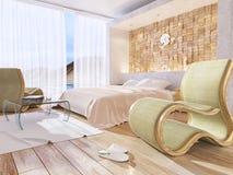 Bedroom. Modern style bedroom interior 3d rendering Royalty Free Stock Images