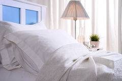 Bedroom in the morning. With sunlight royalty free stock photos