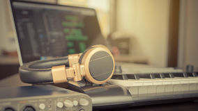 Bedroom Music Studio Computer Music Stock Image