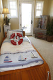 Bedroom nautical decor Stock Photo