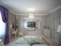 Bedroom neoclassic style Stock Images