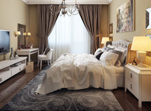 Bedroom in neoclassicism style Royalty Free Stock Photo