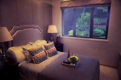 Bedroom at night Royalty Free Stock Photography