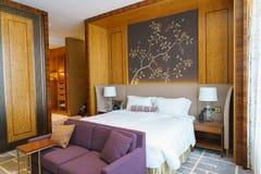 Bedroom Of Luxury Suite In Hotel In HongKong Stock Photo