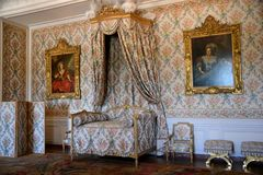 Bedroom. A bedroom at the palace of Versailles Stock Photo