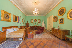 Bedroom of parents. Furniture from 19. cent in palace Saint Anton. Royalty Free Stock Photo