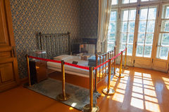 The bedroom. The photo was taken in the leader of the memorial Daoli distrct ( Yiyuan street No. 1 ) Harbin city Heilongjiang province, China Stock Photos