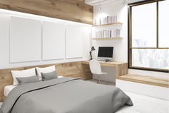 Bedroom with picture gallery, corner Royalty Free Stock Images