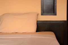 Bedroom with pillow Royalty Free Stock Image